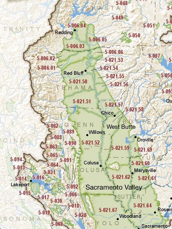 Sacramento Valley – West Butte (consolidated into Sacramento Valley – Butte subbasin 5-021.70)