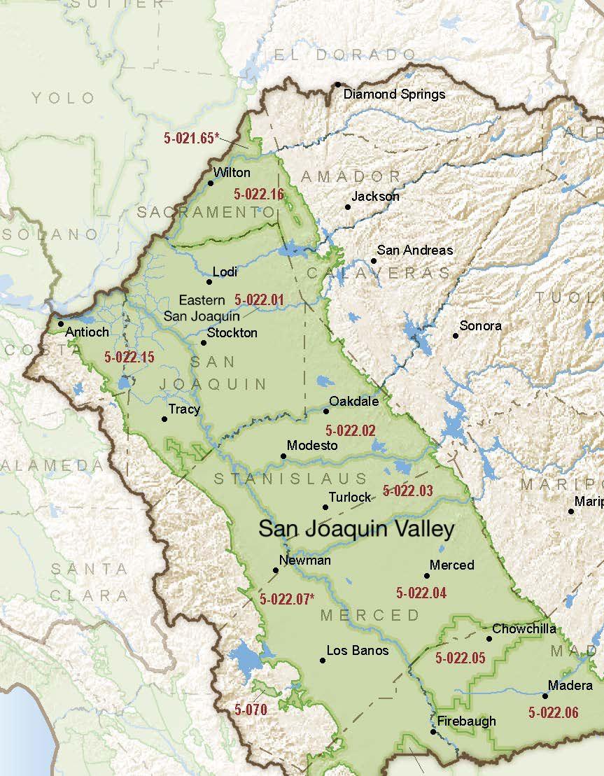 San Joaquin Valley – Eastern San Joaquin