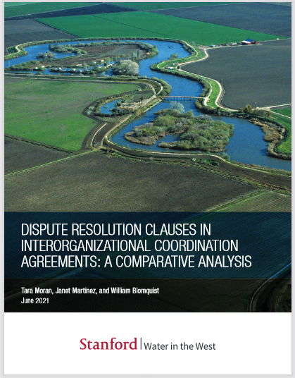 REPORT: Dispute Resolution Clauses In Interorganizational Coordination Agreements: A Comparative Analysis